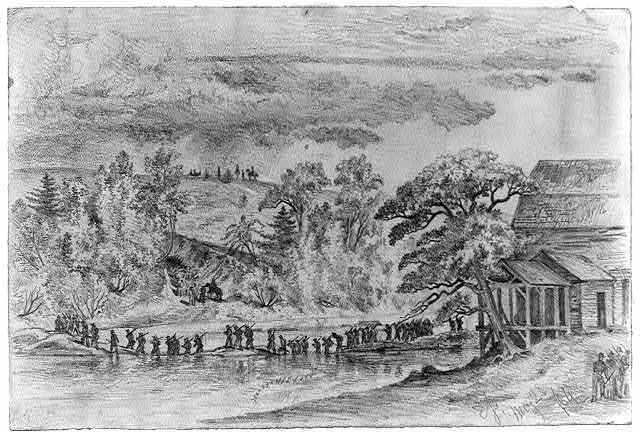 [The Army of the Potomac (5th Corps) crossing the North Anna, at Jerico Ford]