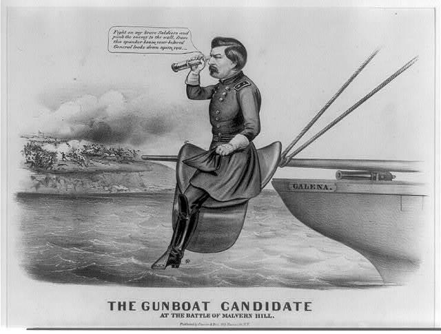 The gunboat candidate at the Battle of Malvern Hill