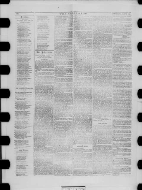 The Liberator (Boston Newspaper), Friday, February 12, 1864  (Issue)