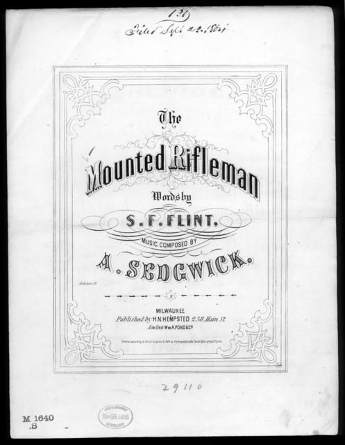 The  Mounted rifleman