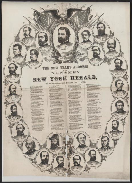 The New Year's address of the Newsmen of the New York Herald.