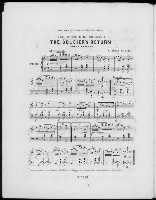 The  Soldier's return (Le retour du soldat), polka mazurka