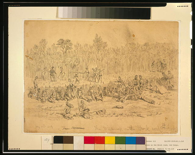 The Wilderness, on the Brock road, 2nd Corps--May 11th 1864 / E.F.