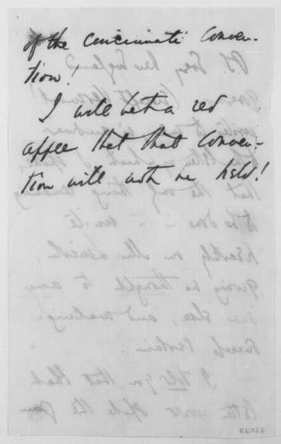 """Theodore Tilton to John G. Nicolay, Tuesday, September 06, 1864  (Lincoln's alleged remark that he was a """"beaten man"""")"""