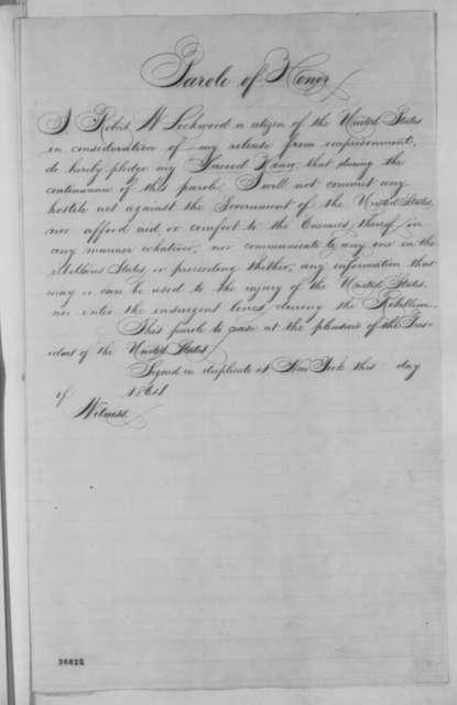 Thomas Corwin Jr. to Abraham Lincoln, Thursday, September 29, 1864  (Case of Robert W. Lockwood; endorsed by Francis Thomas)
