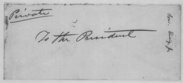 Thomas Ewing Jr. to William P. Dole, Friday, August 26, 1864  (Kansas politics; endorsed by Dole)