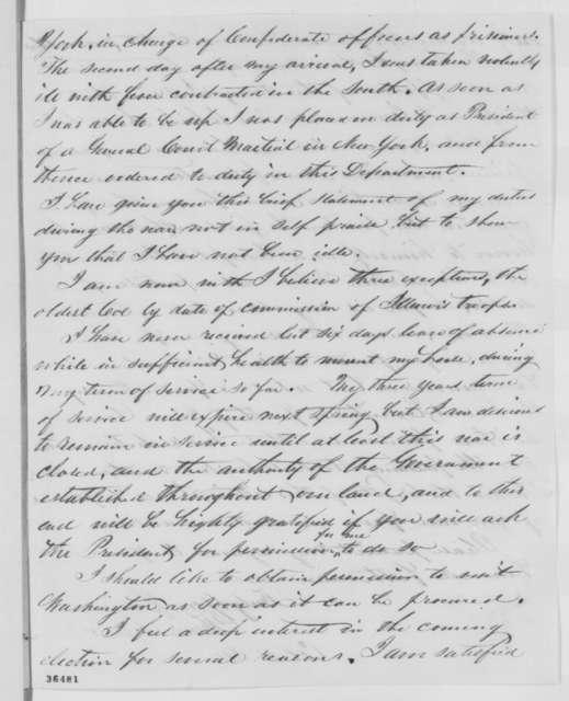 Thomas S. Mather to Robert T. Lincoln, Tuesday, September 20, 1864  (Seeks permission to visit Washington)