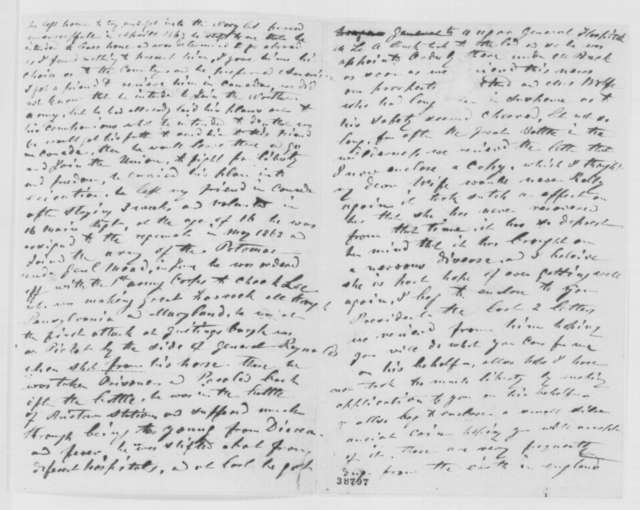 Thomas Wolfe Sr. to Abraham Lincoln, Monday, November 28, 1864  (Englishman writes concerning his son who joined the Union Army and was taken prisoner)