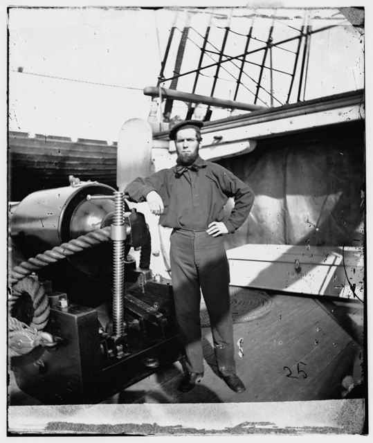 [Unidentified sailor on U.S.S. New Hampshire]