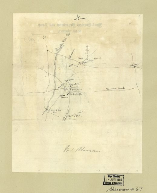 [Union troop positions at Dallas and New Hope Church, Georgia, May 25-June 5, 1864].