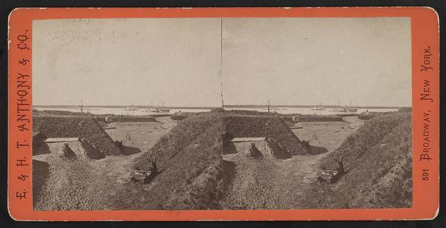View of Fort McAlister (i.e. McAllister), Ga., looking up the Ogechee (i.e. Ogeechee) River