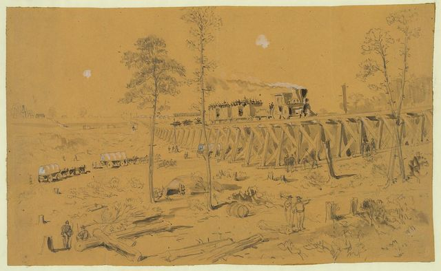 [View on the U.S. Military R.R. in front of Petersburg]