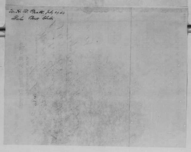 W. H. B. Pratt to Abraham Lincoln, Friday, July 29, 1864  (Telegram reporting result of Yale-Harvard regatta)