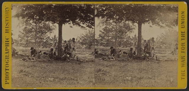 War views Wounded Indians / / Negative by Brady & Co., Washington.