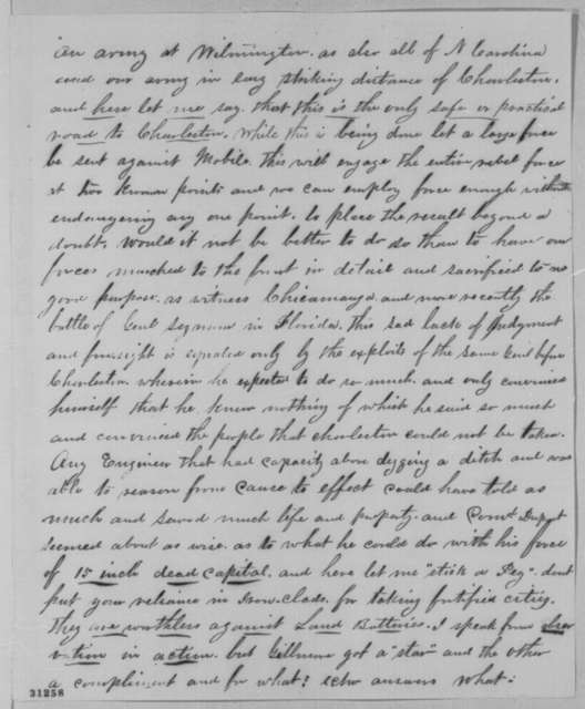 Washington C. Cassell to Abraham Lincoln, Friday, March 04, 1864  (Military affairs)