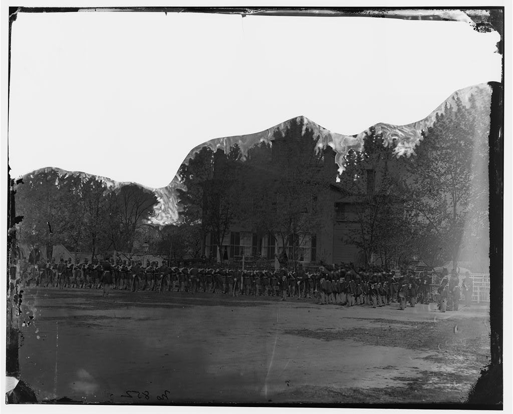 Washington, District of Columbia. Battalion of Marine Corps at Navy Yard