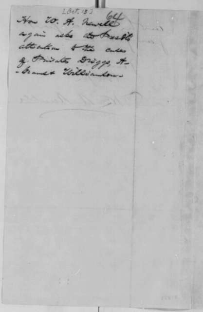 William A. Newell to Abraham Lincoln, Thursday, October 13, 1864  (Cases of Driggs, Abrams and Williamson)
