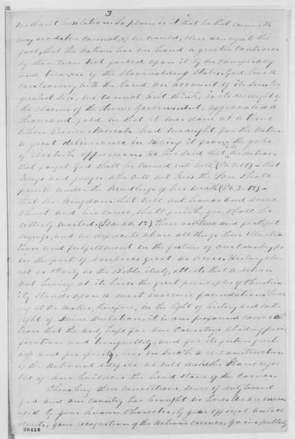 William Brown, et al. to Abraham Lincoln, Thursday, February 11, 1864  (Committee from Reformed Presbyterian Synod presents letter on state of affairs)