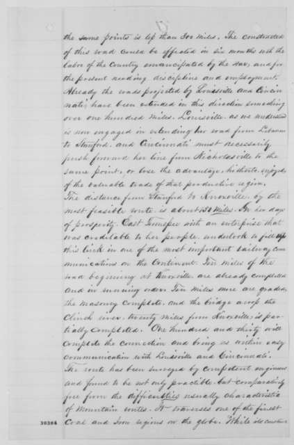 William G. Brownlow, John Baxter, et al. to Abraham Lincoln, Tuesday, February 09, 1864  (Situation in East Tennessee)