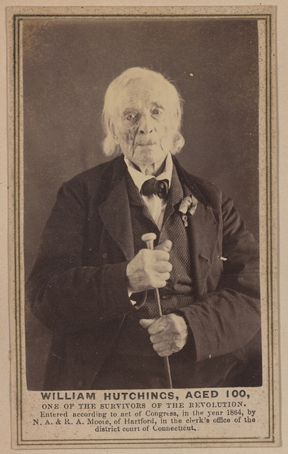 William Hutchings, aged 100, one of the survivors of the Revolution