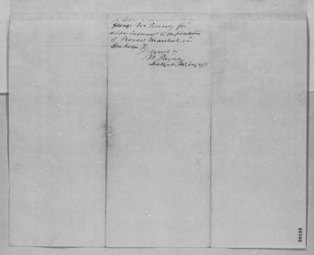 William Jayne to Abraham Lincoln, Wednesday, February 03, 1864  (Recommendation)