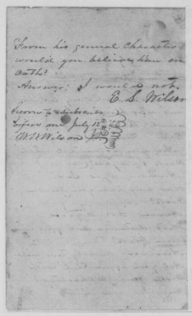 William McAffee, et al., Tuesday, July 12, 1864  (Affidavits on character of Richard Sawyers)