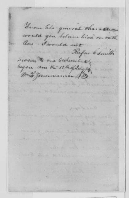 William McAffee, et al., Tuesday, July 12, 1864  (Affidavits on character of Richard Sawyers)