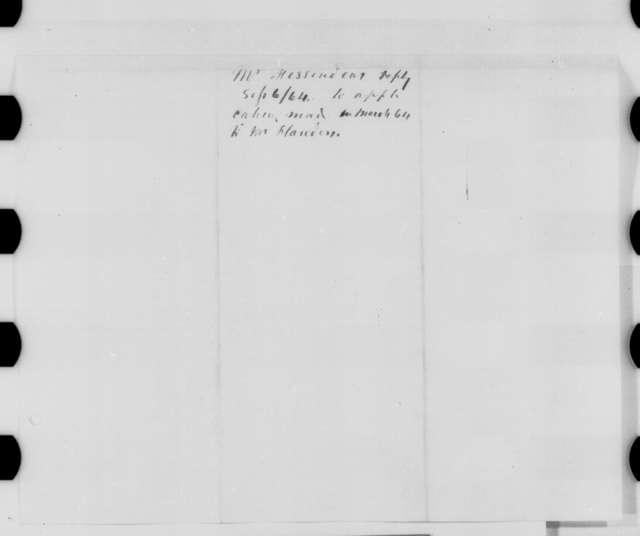 William P. Fessenden to Crafts J. Wright, Tuesday, September 06, 1864  (Oakland Plantation in Louisiana)