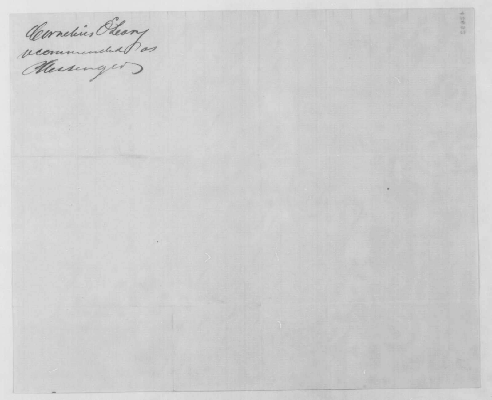 William T. Otto to John G. Nicolay, Wednesday, January 13, 1864  (Introduction)