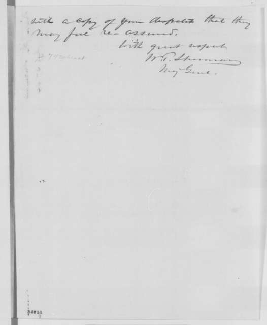 William T. Sherman to Abraham Lincoln, Wednesday, July 27, 1864  (Appointment of Alvin P. Hovey and Peter J. Osterhaus)