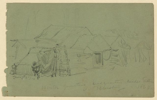 Winter quarters headquarters Meades Station nr. Petersburg--1864