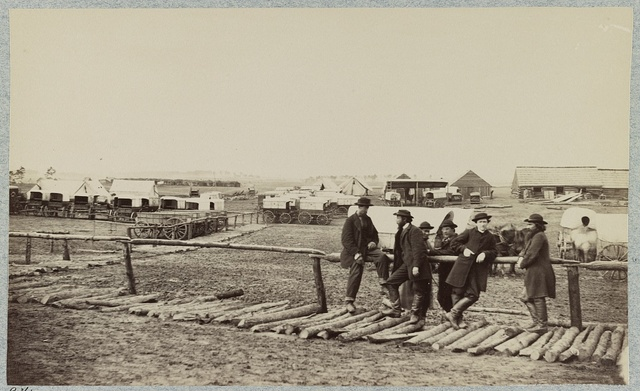 Winter quarters of Quartermaster's Department, 6th Army Corps. near Hazel River, Va., 1864
