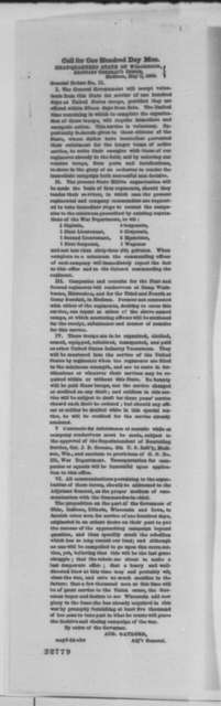 Wisconsin Adjutant General, Monday, May 02, 1864  (Printed general orders)