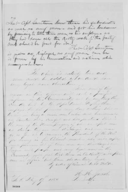 York Pennsylvania Union League, Tuesday, February 09, 1864  (Case of Charles Garretson)