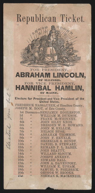 [Ohio republican ticket and California Union ticket.]