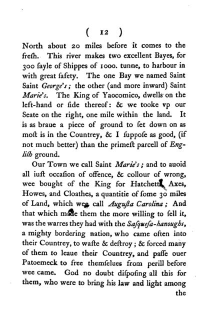 A relation of the successefull beginnings of the Lord Baltemore's plantation in Mary-land; being an extract of certaine letters written from thence, by some of the aduenturers to their friends in England. Anno Domini 1634.