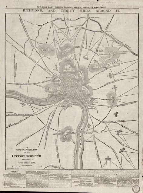 A topographical map of the city of Richmond and vicinity : from official data /