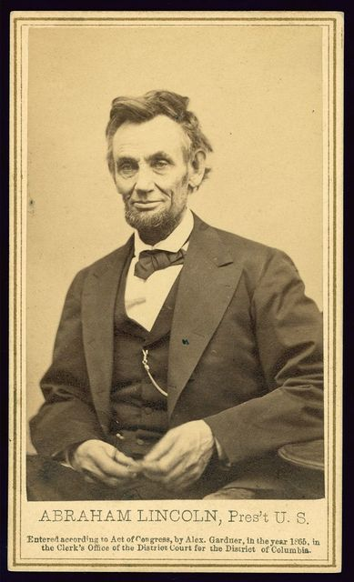 Abraham Lincoln, Pres't U.S. / Alex. Gardner, photographer to the Army of the Potomac.