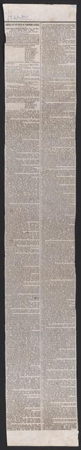 Address on the Death of President Lincoln, [newspaper clipping]. April 19th, 1865.