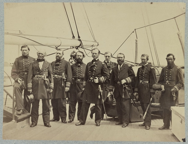 Admiral Dahlgren and staff on board U.S.S. Pawnee, off Charleston, S.C.