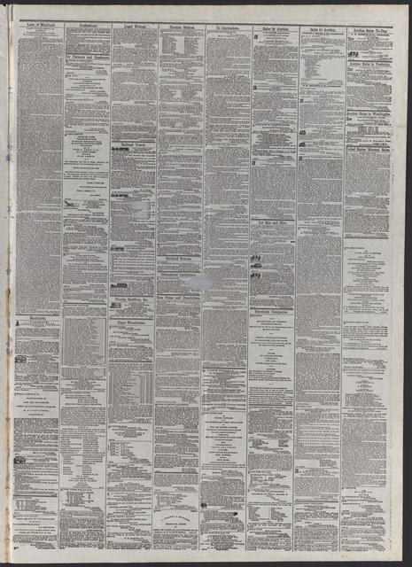 American and Commercial Advertiser, [newspaper]. April 15th, 1865.