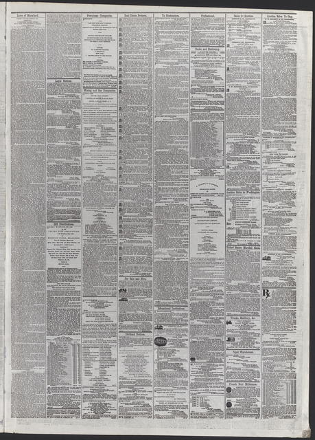 American and Commercial Advertiser, [newspaper]. April 20th, 1865.