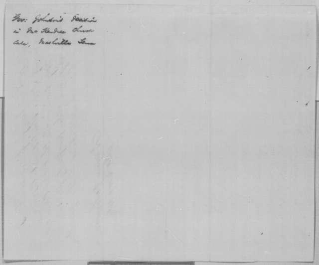 Andrew Johnson, Monday, January 23, 1865  (Opinion concerning Methodist church at Nashville)