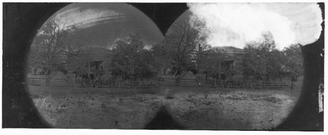 Appomattox Court House, Virginia. View of Court House and soldiers