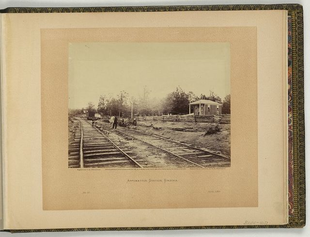 Appomattox Station, Virginia / negative by T.H. O'Sullivan, positive by A. Gardner.