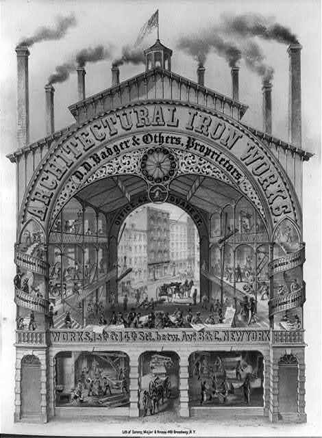 Architectural Iron Works--D.D. Badger & others, proprietors / lith. of Sarony, Major & Knapp.