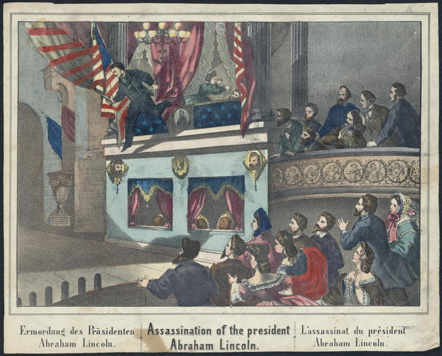 Assassination of the president Abraham Lincoln.