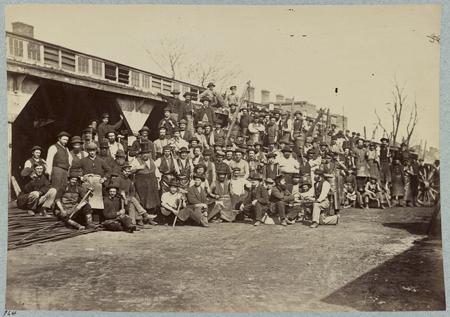 Blacksmith's shop, Quartermaster's department, Washington, D.C., April, 1865