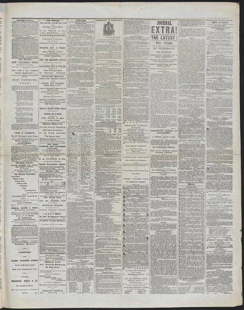 Boston Daily Journal, [newspaper]. April 18, 1865.