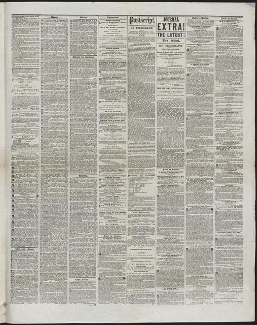 Boston Daily Journal, [newspaper]. April 24, 1865.